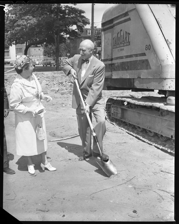 The sod-turning ceremony took place on July 20, 1955. Image: City of Ottawa Archives CA033616.