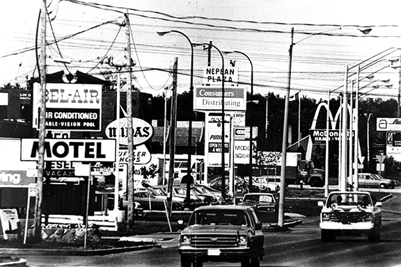 Robertson Road in 1980. Image: City of Ottawa Archives, CA025336.