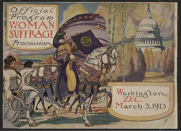 NAWSA printed an elaborate program for the 1913 Washington, D.C., parade. (Library of Congress)