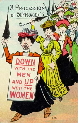 a procession of suffragists