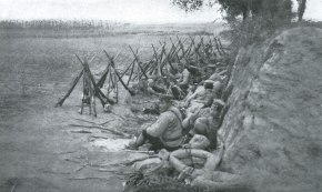 Japanese troops resting during the Battle of the Sha River. Like soldiers throughout human history, the experience of these recruits was a mix of long periods of boredom and exhaustion with short bursts of mortal terror.