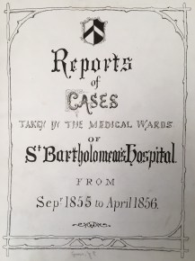 "Title page of John Edward Gross's ""Reports of Cases"" (courtesy of St. Bartholomew's Hospital Archives)"