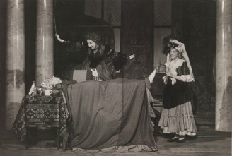 Scene from Molière's The Imaginary Invalid, staged by the Moscow Theater for Sanitary Culture. Source: Russian State Archive for Scientific-Technical Documentation, F. 178. Op. 5. D. 110. L. 13.