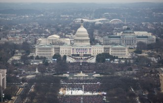 """Presidential inauguration, January 20, 2017, 11:56 a.m., by the National Park Service. Made public in response to an FOIA request. See batch 4 of """"National Mall & Memorial Parks Inaugural Photos,"""" added March 3, 2017, to FOIA—Frequently Requested Documents."""