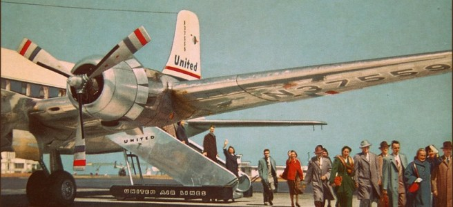 """United Air Lines DC-6 and DC-6B Mainliners 1950s,"" via 1950sUnlimited on Flicker with some rights reserved (CC BY 2.0)"