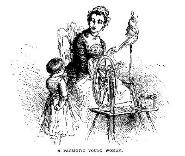 A Patriotic Young Woman Illustration Published In Our Country A Household History For All