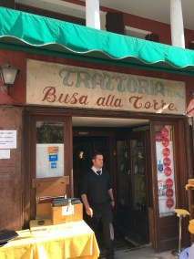 entrance of Trattoria Busa alla Torre