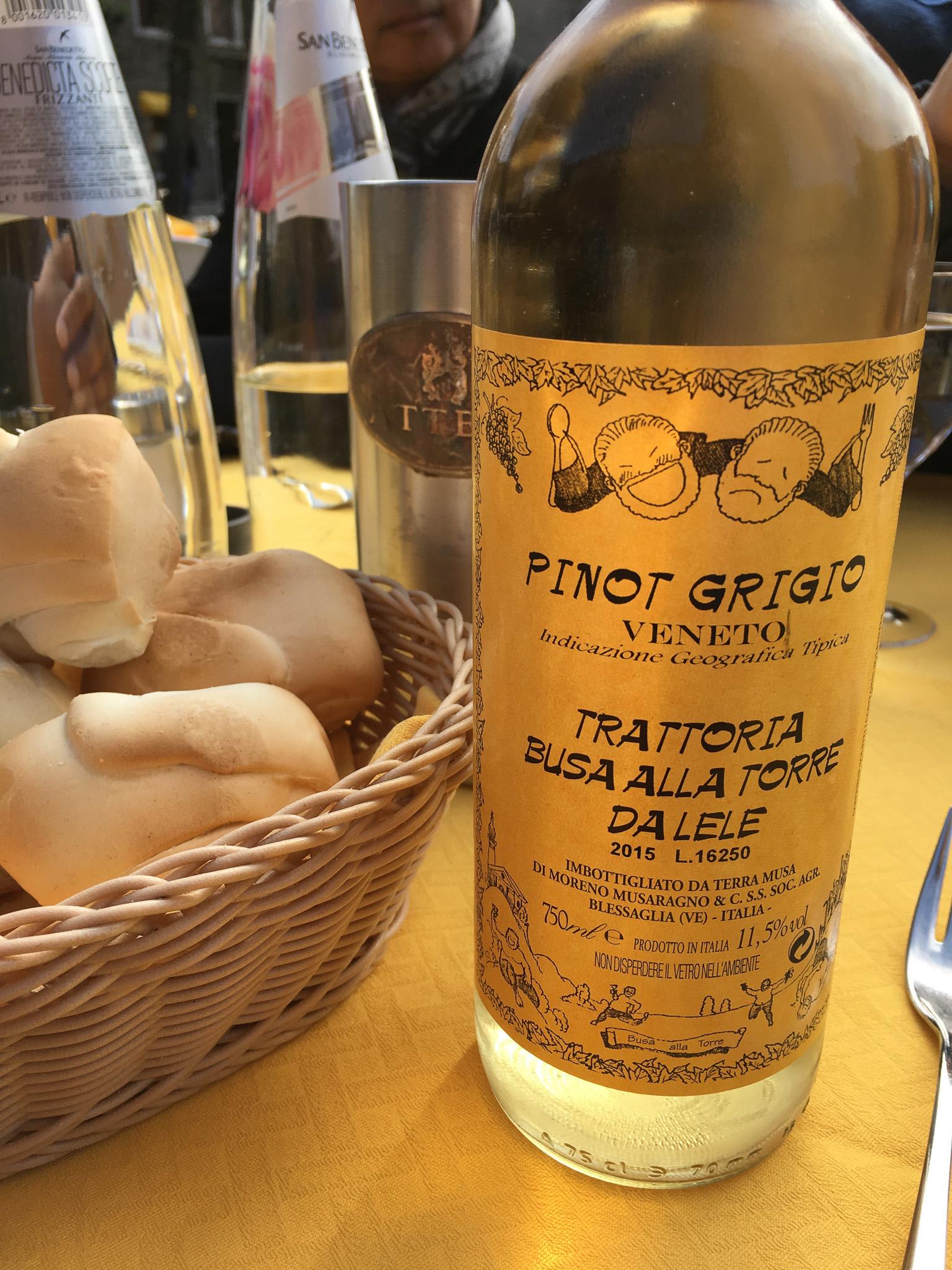bottle of pinot grigio