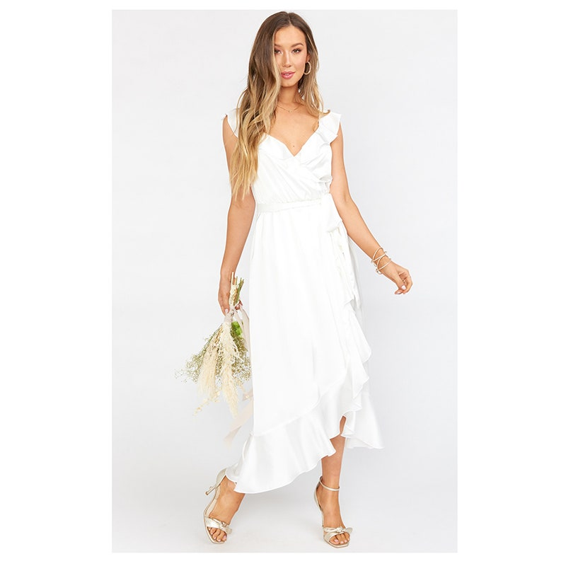 Mumu Samantha Ruffle Wrap Dress