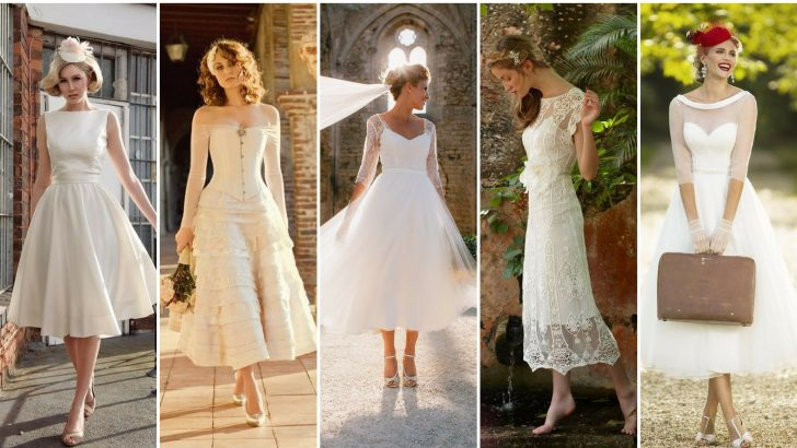 Vintage Midi Wedding Dresses
