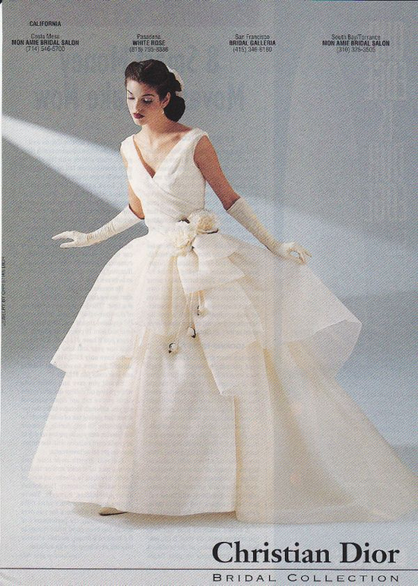 Vintage Dior Wedding Dresses