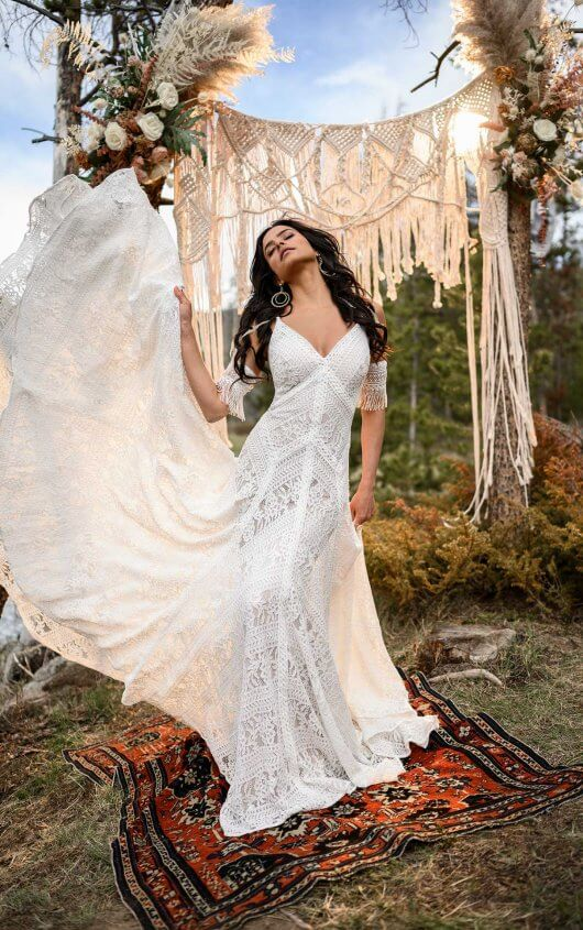 Goddess Bohemian Vintage Wedding Dresses