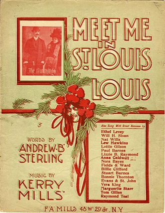 "Title page to the original sheet music for ""Meet Me in St. Louis, Louis."""