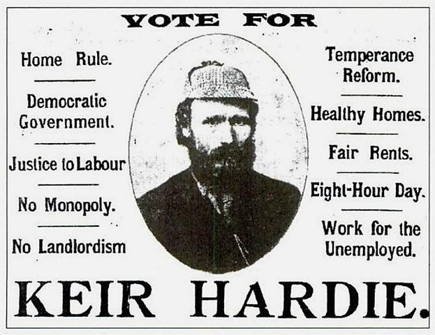 Campaign ad for Keir Hardie.