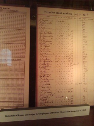 Employee records from July 1919