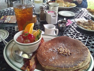 The pumpkin pancakes