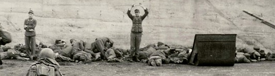 3 Pics: WW2: US Troops executing German Waffen SS in Dachau!   The