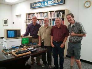 Former Apple engineers with Apple 1 computer