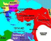 Ottoman Empire Map, 1914