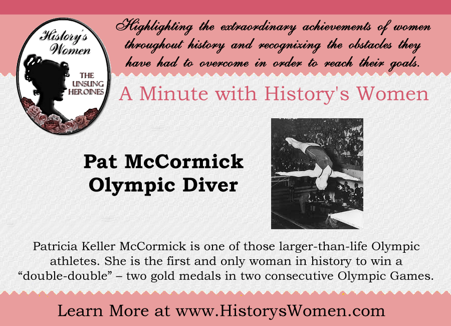 A minute with Pat McCormick from HistorysWomen.com