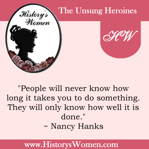Quote by Nancy Hanks