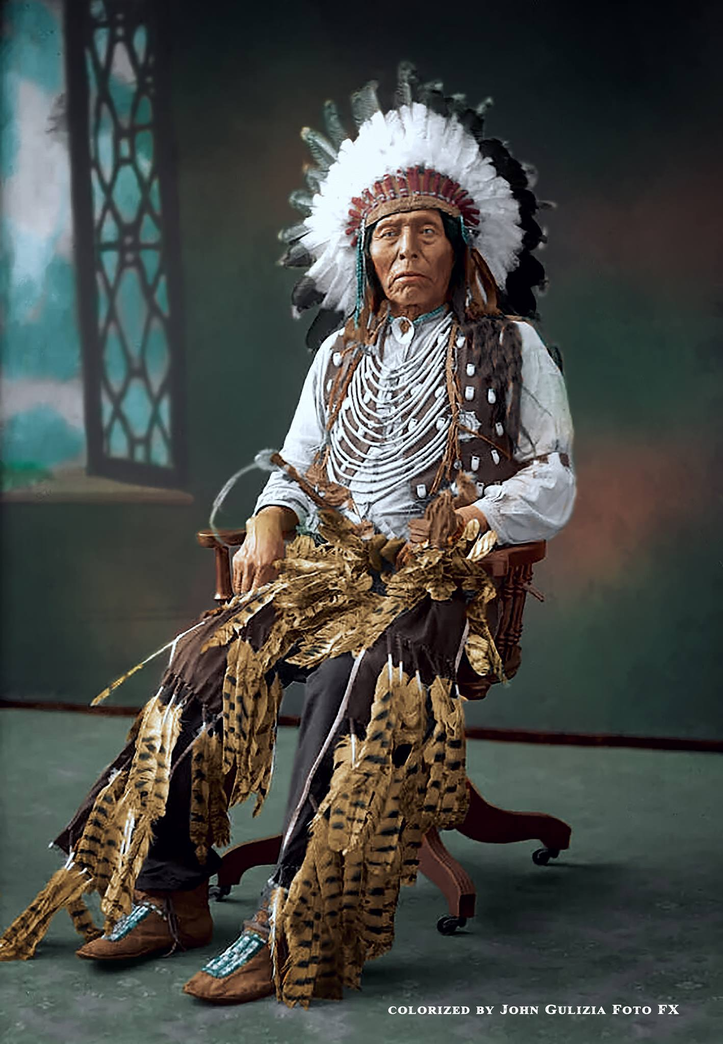 Rare Colorized Native American Images From The Past