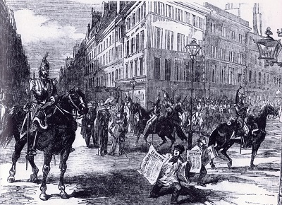 Cavalry Patrolls Streets of Paris During Coup of Louis Napoleon