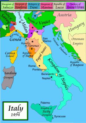 Italy in 1494