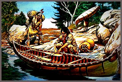 Algonkian Canoe