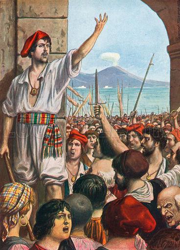 Masaniello,leading revolt in Naples, 1647
