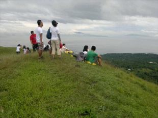 Other trekkers enjoying the view