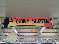 He's gone surfin'