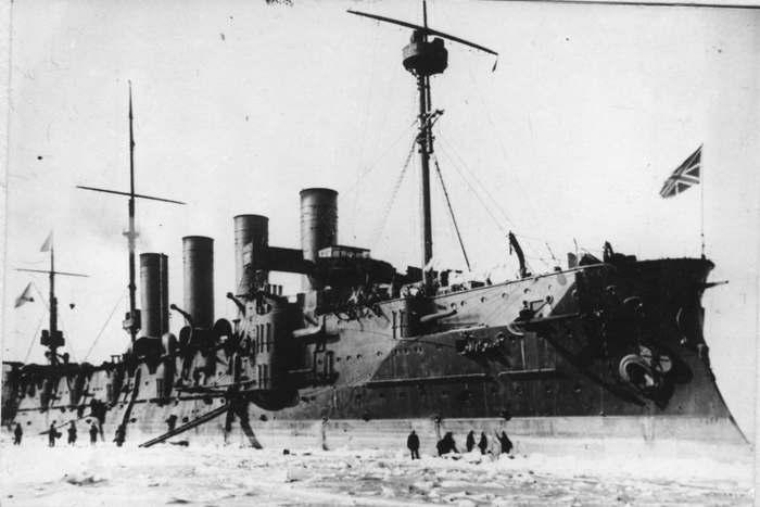 Броненосный крейсер «Громобой» во Владивостоке, зима 1903-1904 годов