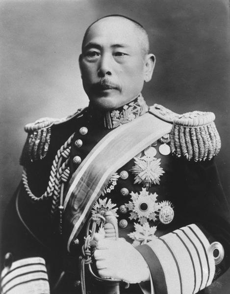 Адмирал Хиконодзе Камимура, командующий отрядом японских броненосцев во время боя в Корейском проливе 14 (1 ст.ст.) августа 1904 года