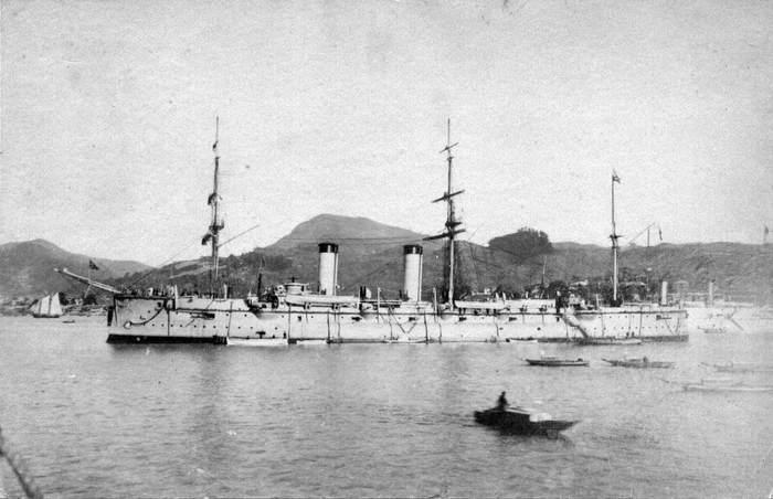 Броненосный крейсер «Рюрик» во Владивостоке, начало ХХ века