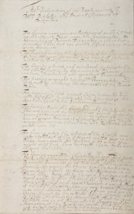 Nathaniel Bacon's Declaration of Grievances against the governor (Click for source).