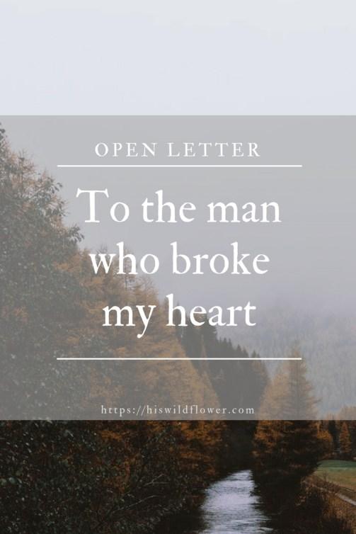 Broke to her you my letter heart Broken Hearts