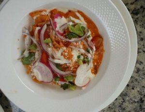 Chilaquiles rojos gibt es in vielen Variationen