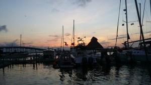 Supermoon, sailing, night sailing in Progresso