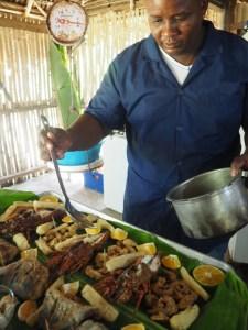 Rezept, Fisch mit Meeresfrüchten, Hai, Rezept aus Panama, Karibik