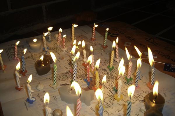 Geburtstagsfeier in Nin