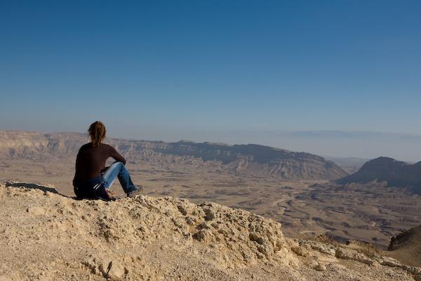 Small Makhtesh in der Wüste Negev