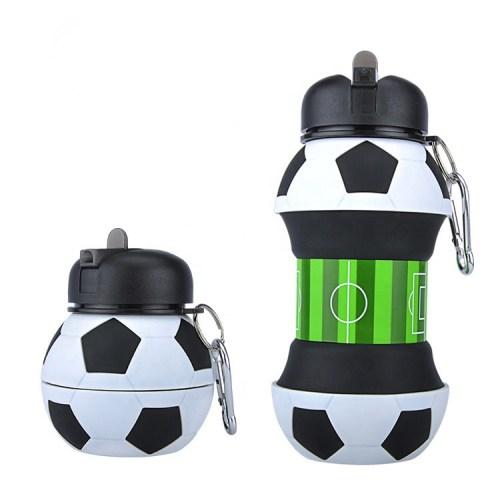 складная силиконовая бутылка для воды футбольный мяч