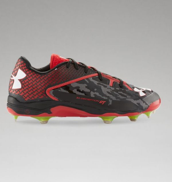 Under Armour Deception Low DiamondTips Spikes - Black/Red
