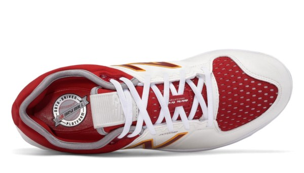 New Balance Coumarin Pack Spikes - White/Burgundy/Gold (L3000MW3)