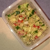 Easy School Lunch: Veggie Quinoa Toss