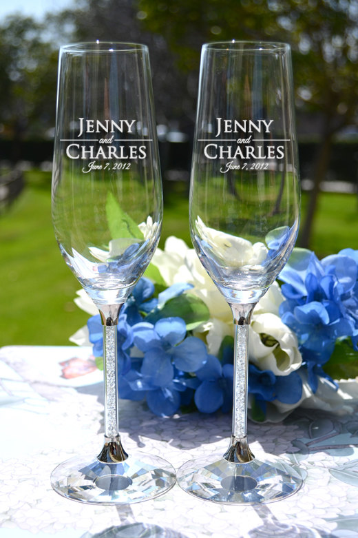 Etsy Pick Of The Week Unique Toasting Flutes