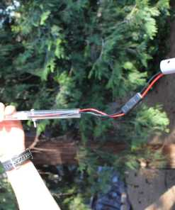 LED Camp Locator with remote wired inside RV fiberglass flagpole