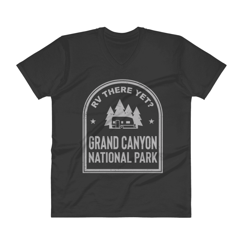 RV There Yet? Grand Canyon National Park V-Neck (Men's) Black