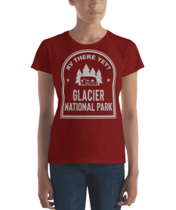 RV There Yet? Glacier National Park T-Shirt (Women's) Independence Red